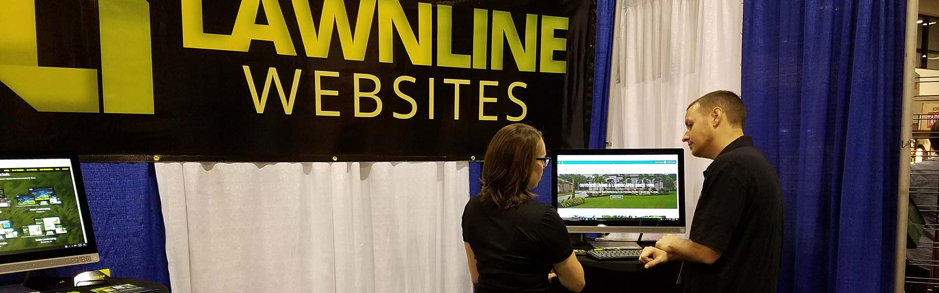 Lawnline Websites booth at FNGLA Landscape Show in Orlando