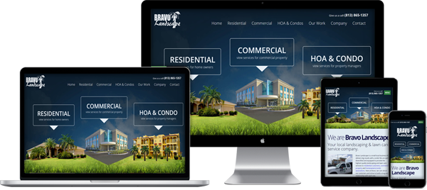 Website Design Portfolio - Bravo Landscape