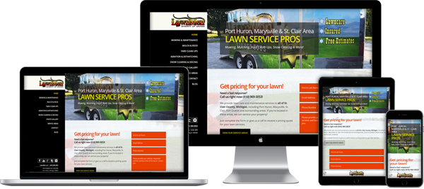 Website Design Portfolio - Lawnmen