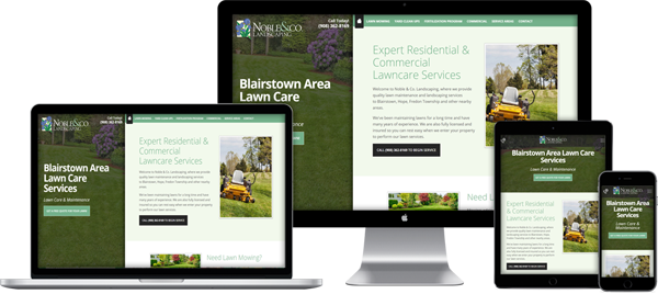 Website Design Portfolio - Noble Landscaping