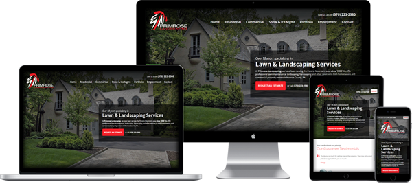 Website Design Portfolio - Primrose Landscaping